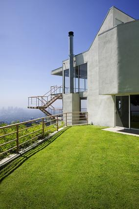 architectural hollywood hills view home